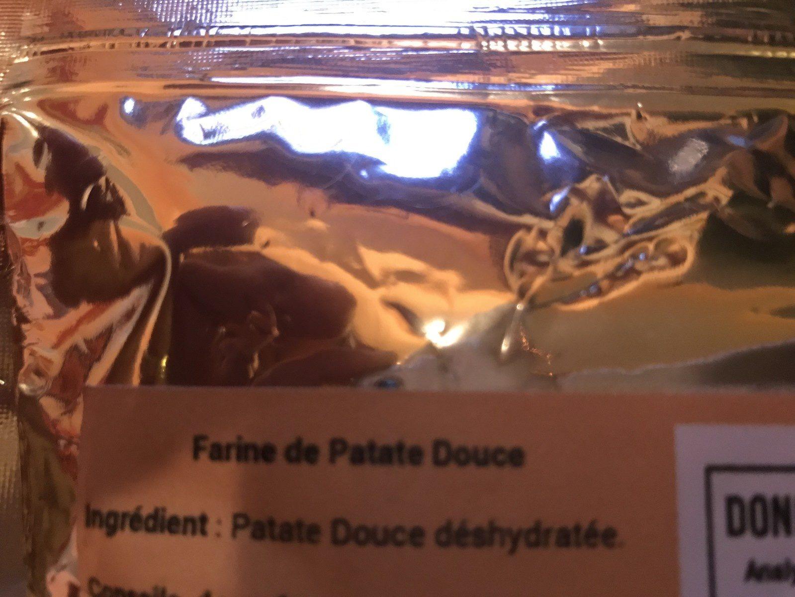 Farine de patate douce - Ingrediënten