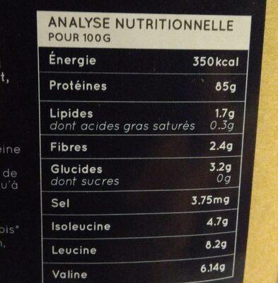 Protéine de pois - Nutrition facts - fr