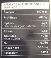 Poudre protéine de riz brun - Nutrition facts - fr