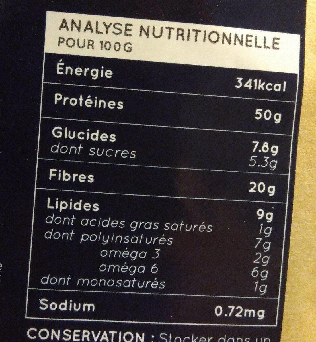 Protéine de chanvre - Nutrition facts - fr
