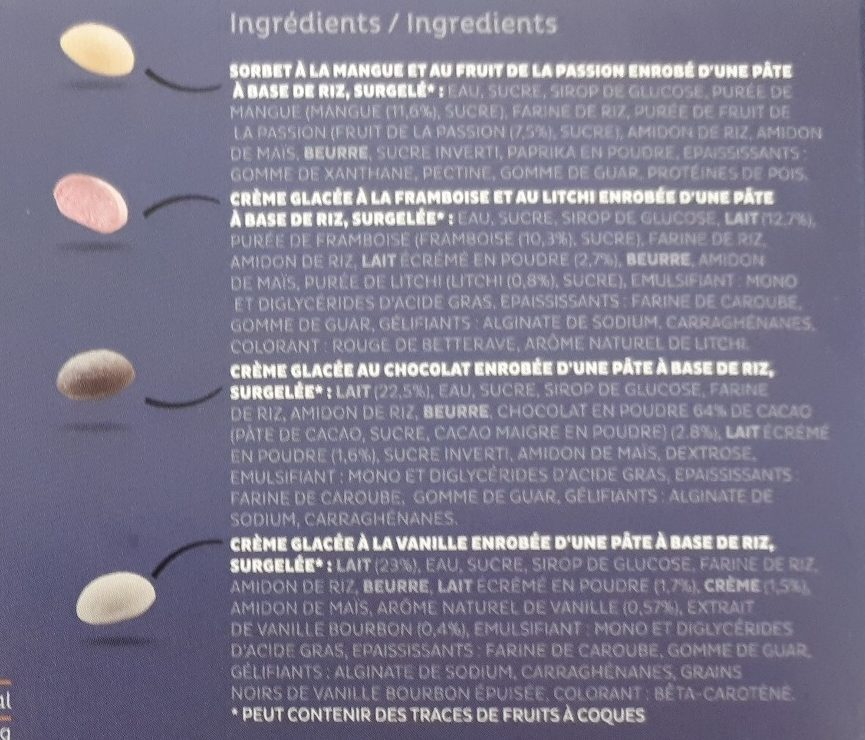 Mochi 'z - Ingredients - fr