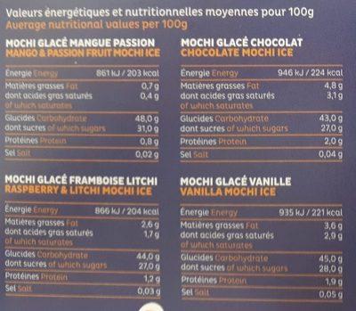 Mochi 'z - Nutrition facts - fr