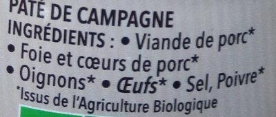 Le Campagnard - Ingredients - fr