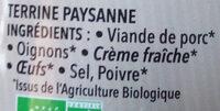La Paysanne - Ingredients