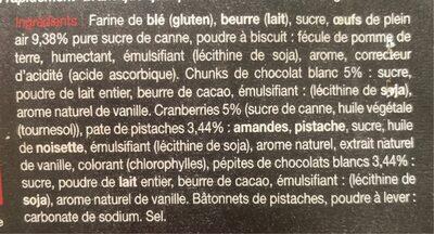 Maxi cookie - Ingredients
