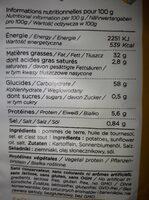 chips nature cuite au chaudron - Nutrition facts - fr