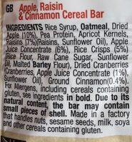 Apple raisin cinnamon - Ingrediënten