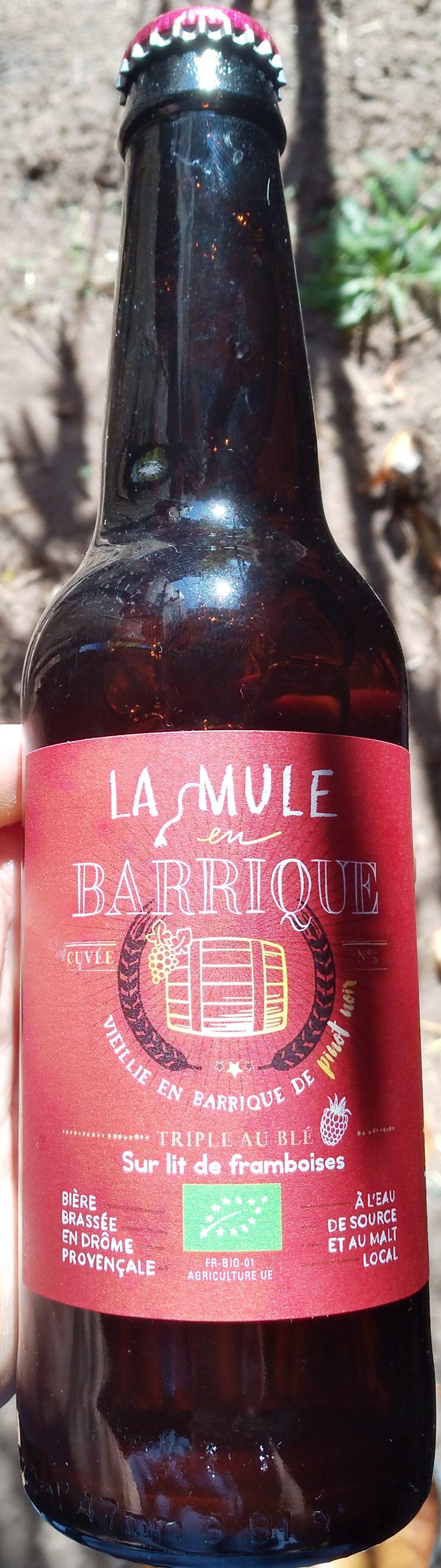 La Mule en Barrique Cuvée N°5 sur lit de framboises - Product - fr