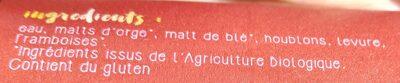 La Mule en Barrique Cuvée N°5 sur lit de framboises - Ingrediënten - fr