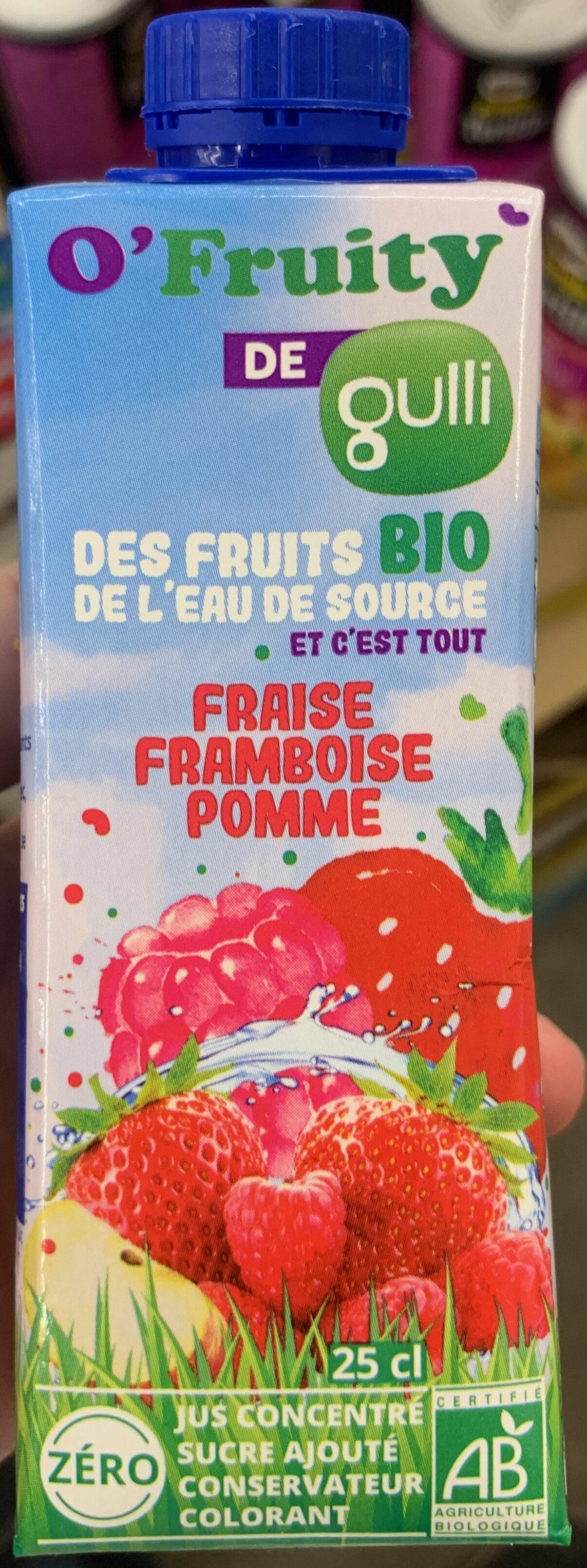 O'fruity Fraise Framboise Pomme - Product - fr
