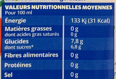 O'fruity Fraise Framboise Pomme - Nutrition facts - fr
