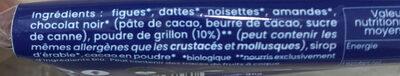 Barre+ focus énergie - Ingrédients - fr