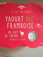 Yaourt lait de chevre framboise - Product