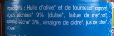 Tartare d'algues Spiruline - Ingredients