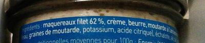 Rillettes de maquereau moutarde à l'ancienne - Ingrédients - fr