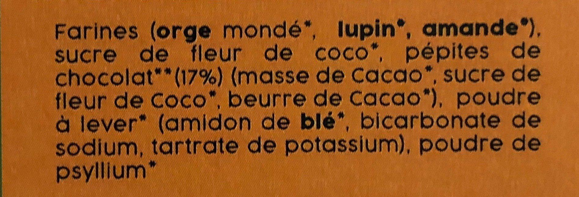 Préparation pour muffins aux pépites de chocolat - Ingrediënten