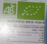 Yaourt Brassé Fraise - Nutrition facts