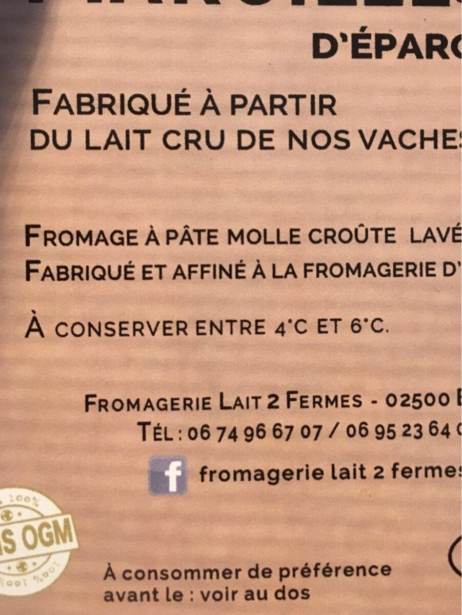 Maroilles d eparcy - Ingrédients - fr