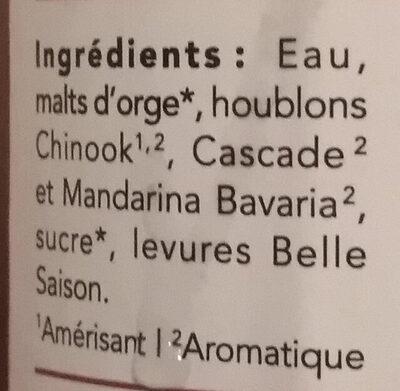 Folk - Farmhouse Ale - Ingredients - fr