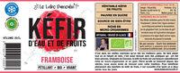 Kéfir de fruits framboise bio - Ingrédients - fr