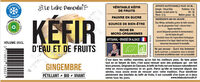 Kéfir de fruits Gingembre bio - Ingrédients - fr