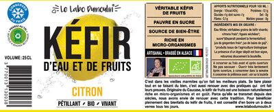 Kéfir de fruits Citron bio - Instruction de recyclage et/ou informations d'emballage - fr