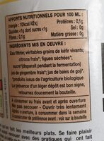 Kéfir de fruits Citron bio - Informations nutritionnelles - fr