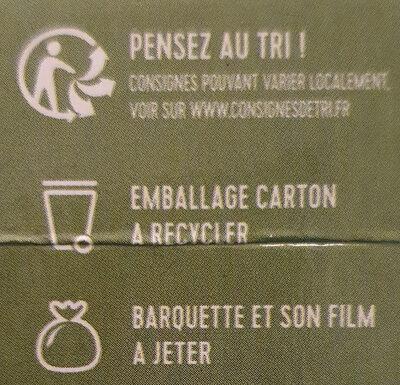 Risotto crémeux aux légumes verts - Instruction de recyclage et/ou informations d'emballage - fr
