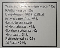 confiture extra de fraise du Burkina Faso - Nutrition facts