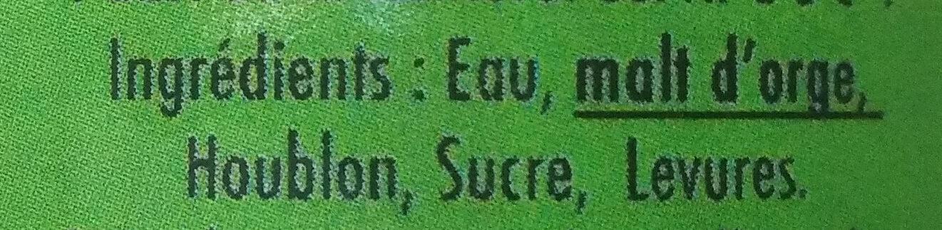 Cascade - Ingredients - fr