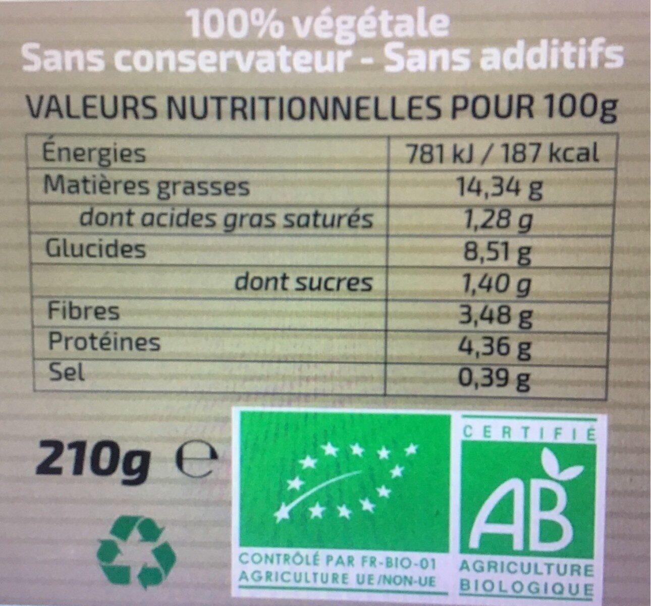Sauce condimentaire Piment Paprika - Nutrition facts