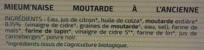 MieuMnaise moutarde à l'ancienne - Ingredients