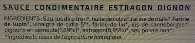 Sauce condimentaire estragon oignon - Ingrediënten - fr