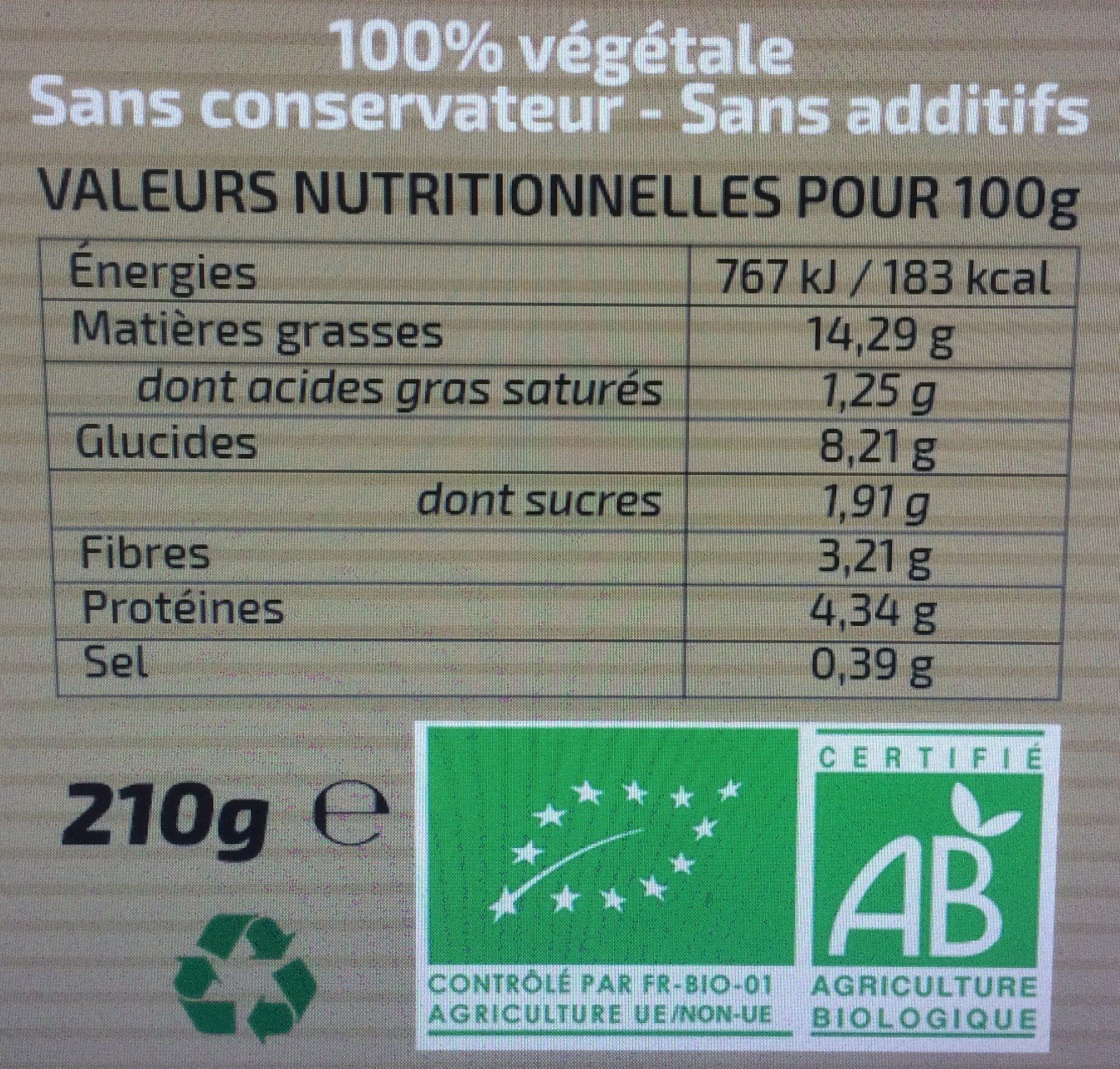 Sauce condimentaire estragon oignon - Voedingswaarden - fr