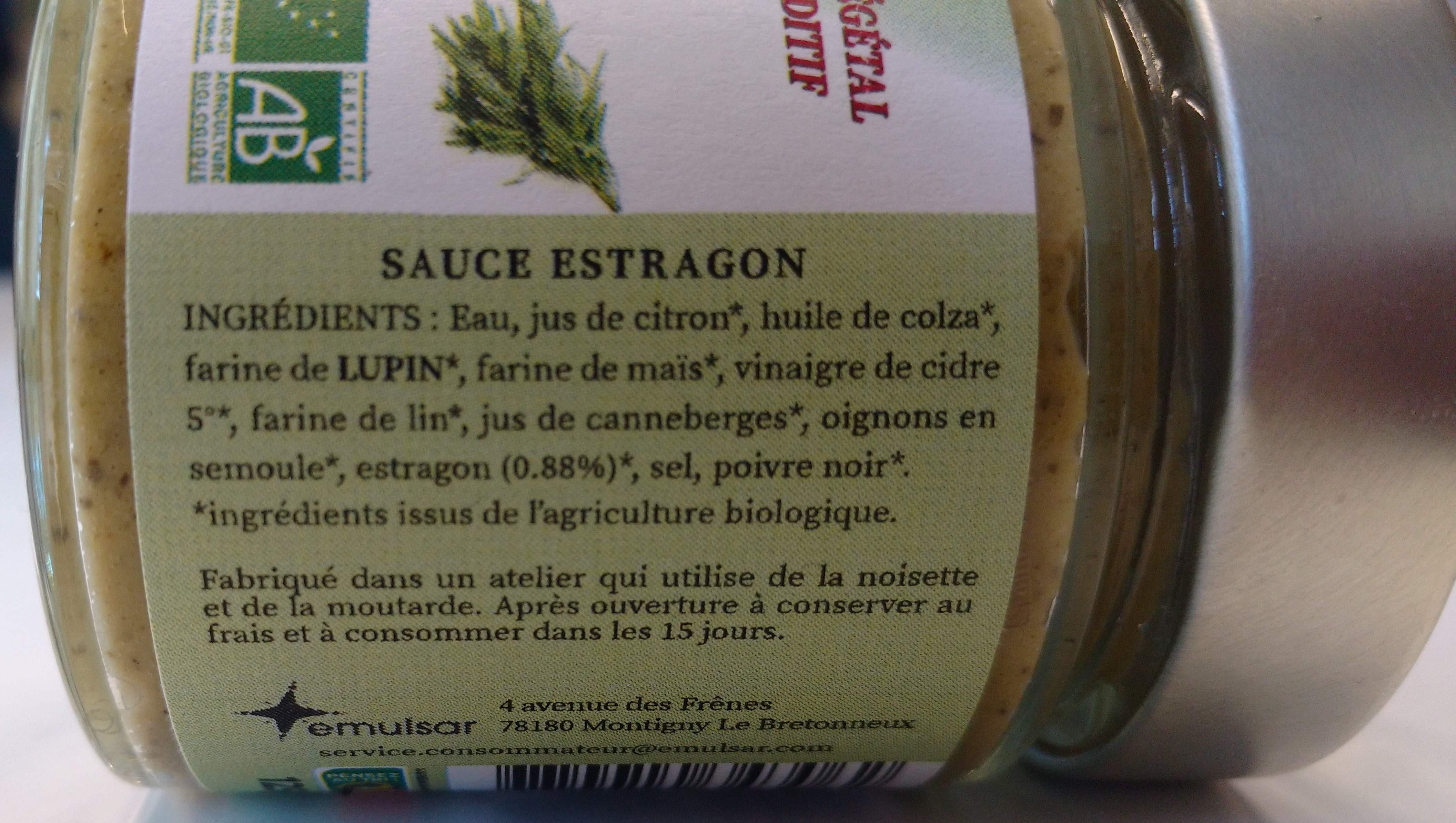 Sauce Estragon - Ingrediënten - fr