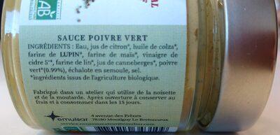 Sauce Poivre Vert - Ingrediënten - fr