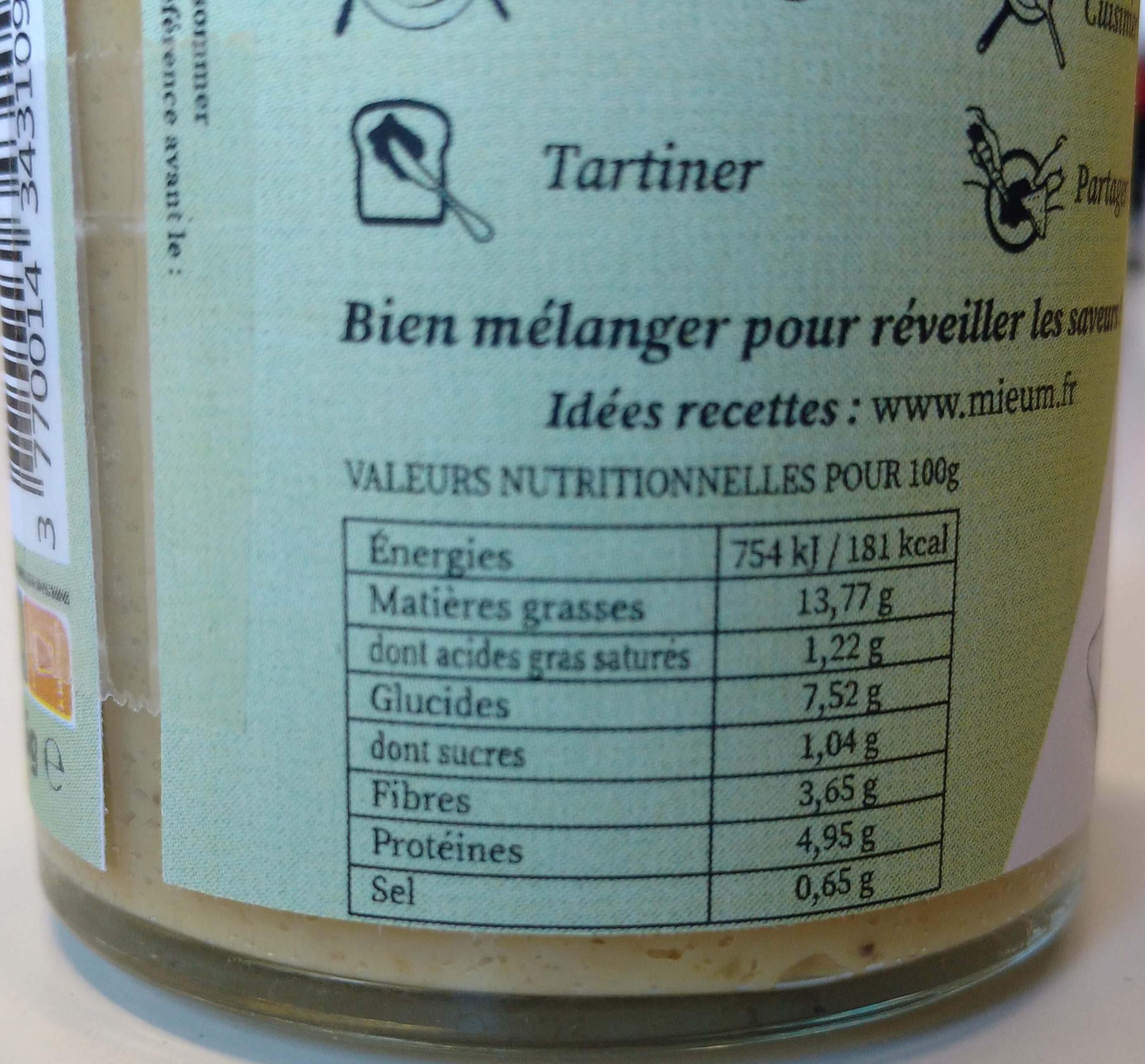 Sauce Poivre Vert - Voedingswaarden - fr