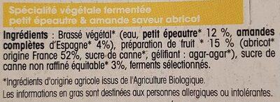 Manufacture végétal Brasse fermentee - Ingrédients - fr