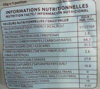 Pétales de maïs enrobés de chocolat - Nutrition facts - fr