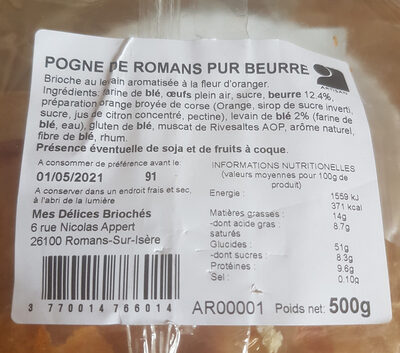 Pogne de Romans pur beurre - Prodotto - fr