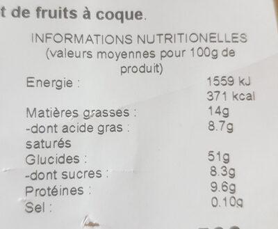 Pogne de Romans pur beurre - Valori nutrizionali - fr
