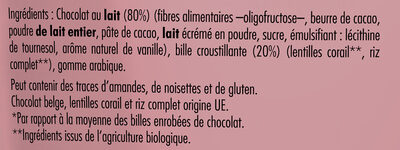 Billes chocolat au Lait - Ingredienti - fr