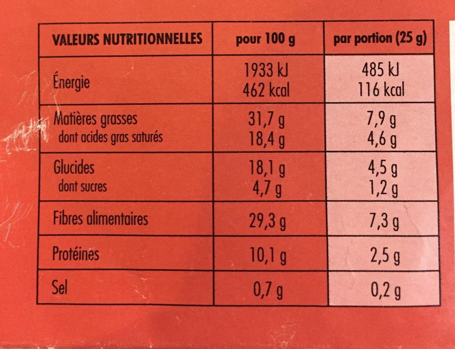 Billes chocolat Noir - Informazioni nutrizionali - fr