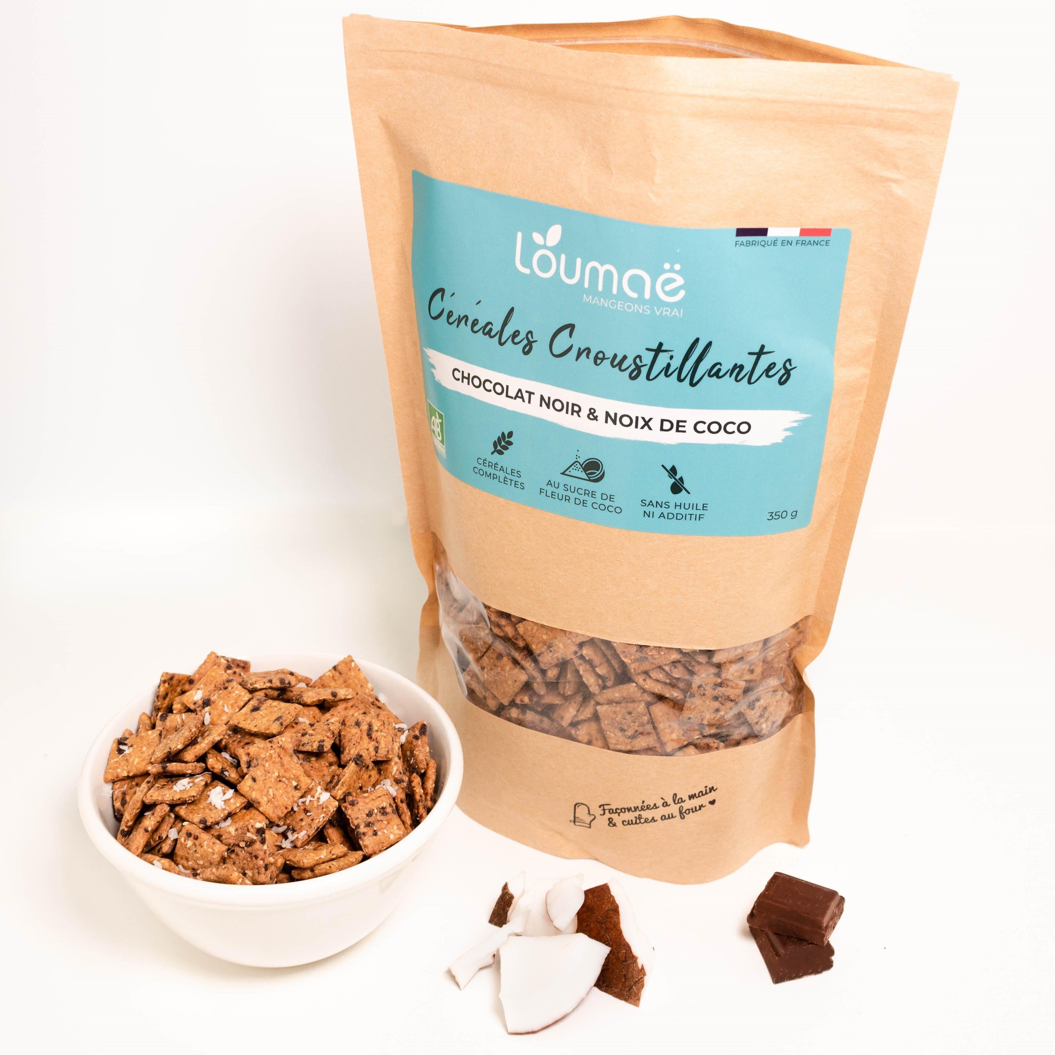 Céréales petit déjeuner - Chocolat Noir & Noix de coco - Produit - fr