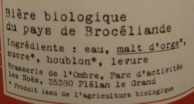 L'Ombre Rouge - Ingrediënten - fr