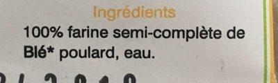 Macaroni à base de blé Poulard - Ingredients