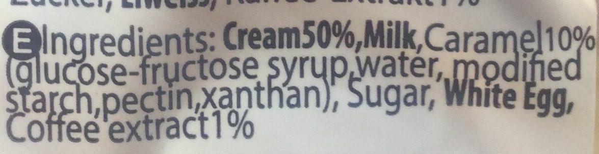 Café Crème - Ingredients - en