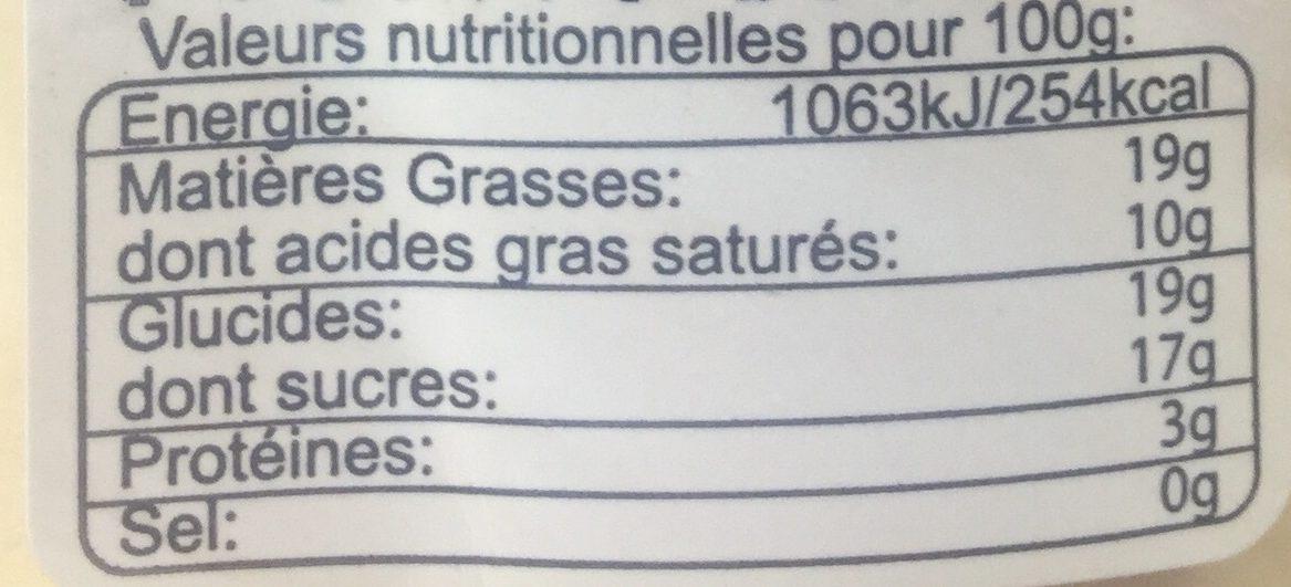 Café Crème - Nutrition facts - fr
