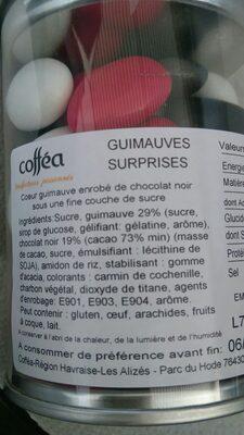 Guimauve enrobée de chocolat - Ingrediënten