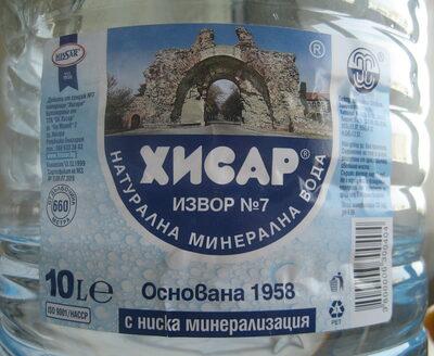 Хисар натурална минерална вода - Product